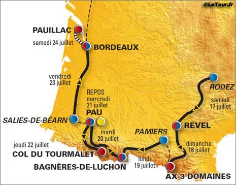 tour de france map 2010. the 2010 Tour de France.