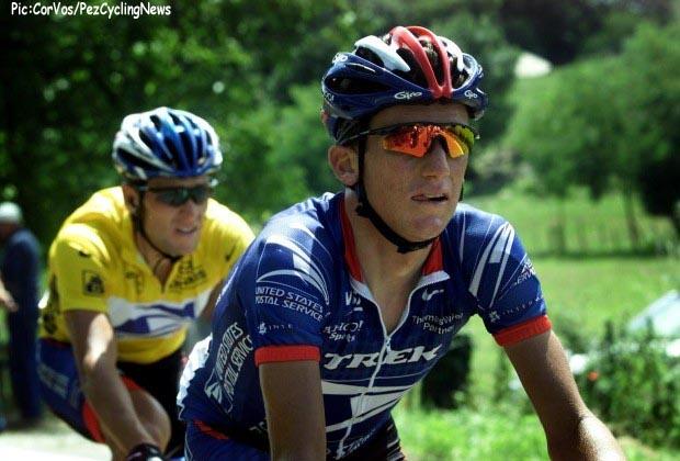 Sarran, 16e etappe Tour de France 25-7-2001 Tyler Hamilton en La