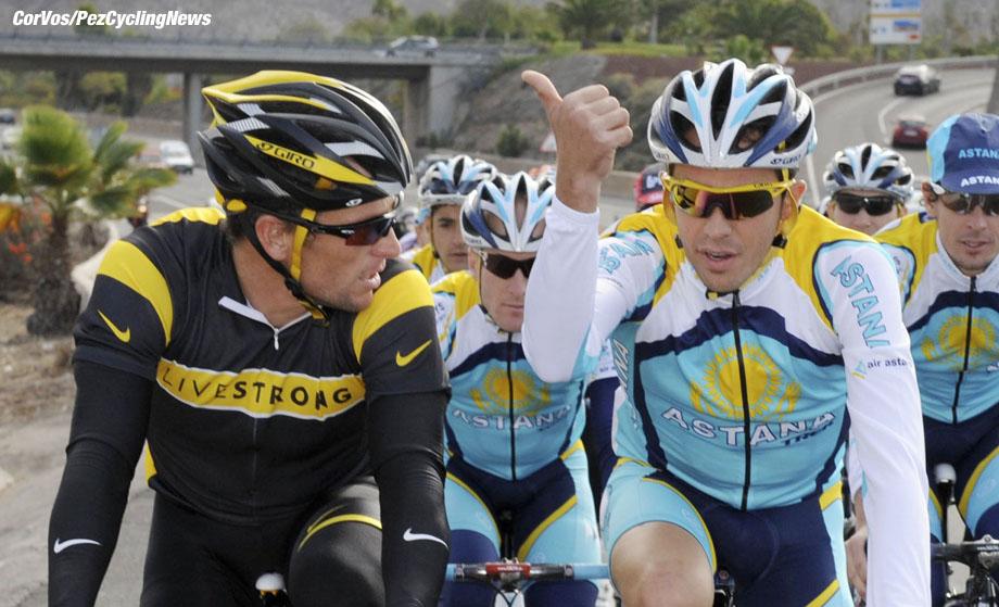 trainen team Astana - Lance Armstrong