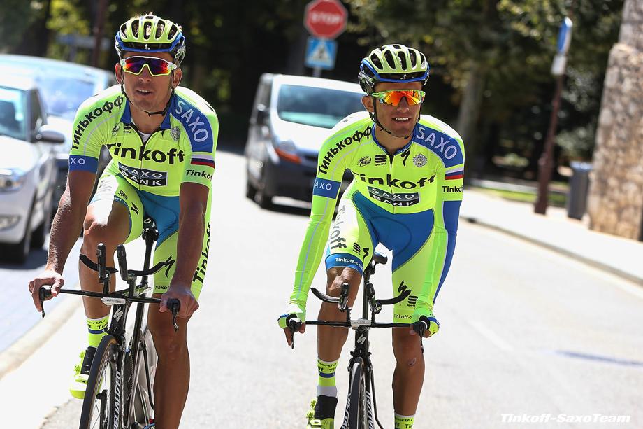 Vuelta Spagna 2015 - 70a Edizione - 2a giornata di riposo Burgos - 08/09/2015 - Maciej Bodnar - Rafal Majka (Tinkoff - Saxo) - foto Ilario Biondi/BettiniPhoto©2015