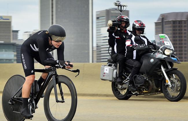 Richmond - USA  - wielrennen - cycling - radsport - cyclisme - Linda Melanie Villumsen of New Zealand  pictured during the Worldchampionships Cycling - Championat du Monde in Richmond -  TT - women elite - photoPDV/PN/Cor Vos © 2015