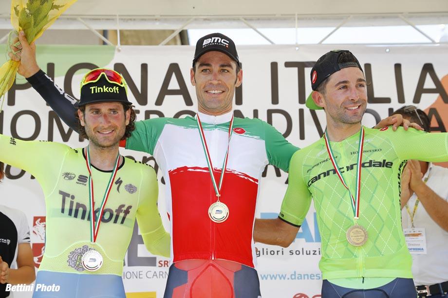 Campionato Italiano cronometro 2016 - Romanengo - cronometro elitè - 22/06/2016 - Manuele Boaro (Tinkoff) - Manuel Quinziato (BMC) - Moreno Moser (Cannondale) - foto Luca Bettini/BettiniPhoto©2016