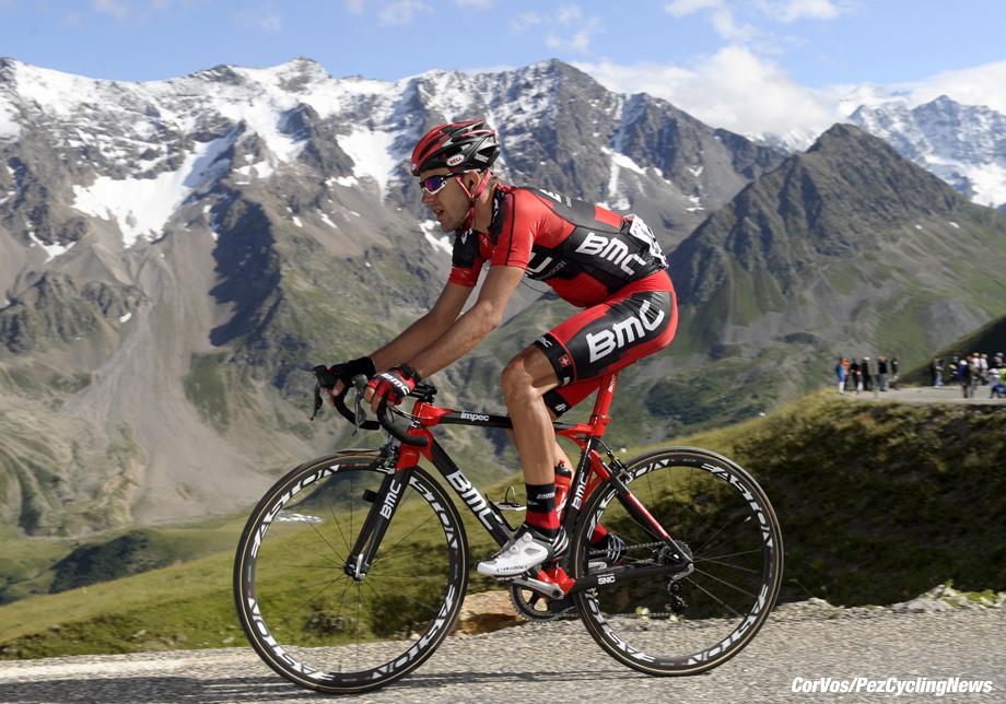 Galibier Serre-Chevalier - France - wielrennen - cycling - radsport - cyclisme - Le Tour 2011 - Tour de France 18e etappe - Pinerolo > Galibier Serre-Chevalier - 45 Amael Moinard (Team BMC Racing Team) - foto Wessel van Keuk/Marketa Navratilova/Cor Vos ©2011 - motard Dirk Honigs