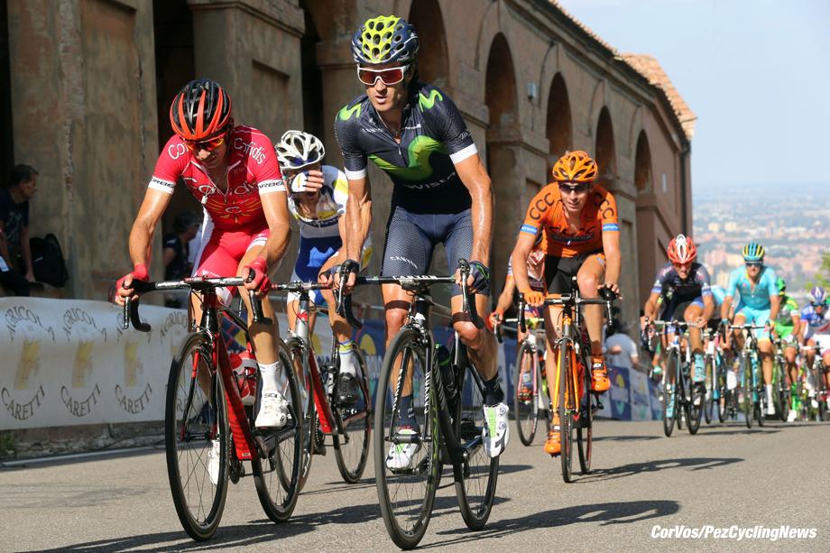 Bologna - San Luca - Italy - wielrennen - cycling - radsport - cyclisme - Daniel Moreno (Movistar) pictured during Giro dell' Emilia Internazionale Elite - photo Anton Vos/Cor Vos © 2016
