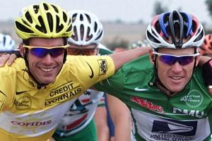 Tour de France, foto Marketa Navratilova/Cor Vos ©2000 Etappe-2, David Millar en Lance Armstrong