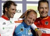 Salzburg - Oostenrijk - wielrennen - cycling - cyclisme - radsport - WK - WM - WC - Wereld kampioenschap Wielrennen - weg road - Elite  -  Alejandro Valverde - Paolo Bettini  Erik Zabel - foto Marketa Navratilova/Cor Vos ©2006
