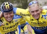 Gran Canaria - wielrennen - cycling - radsport - cyclisSpain me  - Bjarne Riis - Oleg Tinkov (Tinkoff - Saxo) - Photo Ilario Biondi/Cor Vos © 2014