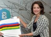cyclists Jolien D'Hoore en Marianne Vos