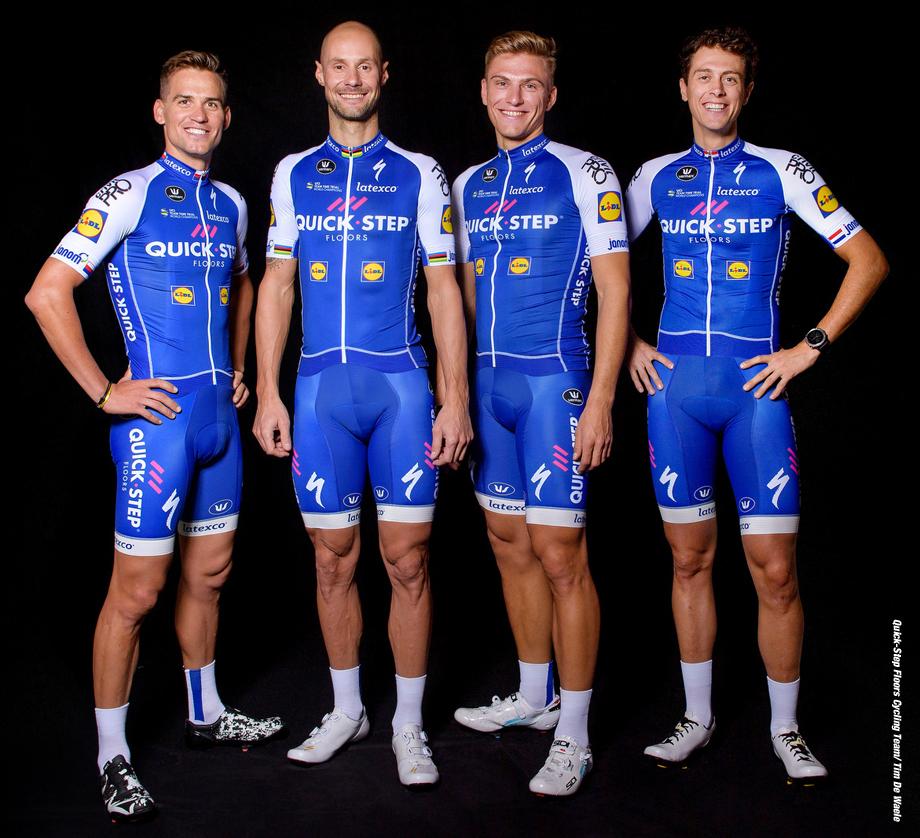 Cycling : Team Quick - Step Floors 2017 Zdenek STYBAR (CZE) / Tom BOONEN (BEL)/  Marcel KITTEL (GER)/  Niki TERPSTRA (NED)/  / ©Tim De Waele