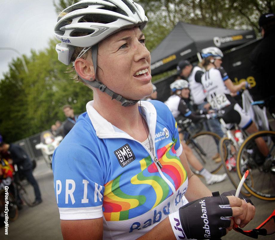Oudenaarde- Belgium - wielrennen - cycling - radsport - cyclisme -  Iris Slappendel (Rabobank-Liv Woman Cycling Team)  pictured during  Ronde van Vlaanderen - Tour of Flanders 2014  women's edition - photo Anton Vos/Cor Vos © 2014