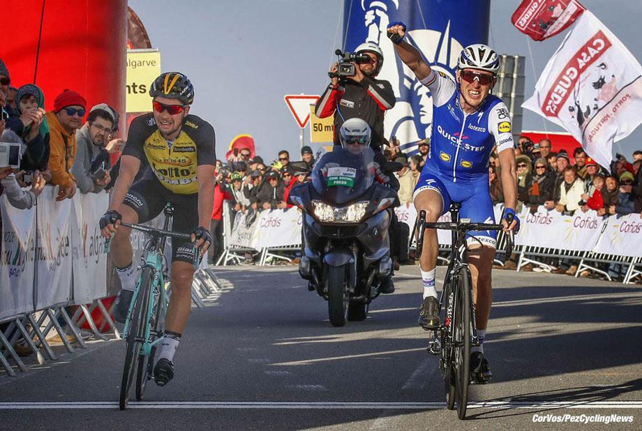 Fóia - Portugal - wielrennen - cycling - radsport - cyclisme - Daniel Martin (IRL - QuickStep - Floors)†- Primoz Roglic (SLO - LottoNL - Jumbo) pictured during the Volta ao Algarve em Bicicleta 2017 stage 2 from Lagoa - Foia, 189.30 km - photo LB/RB/Cor Vos © 2017