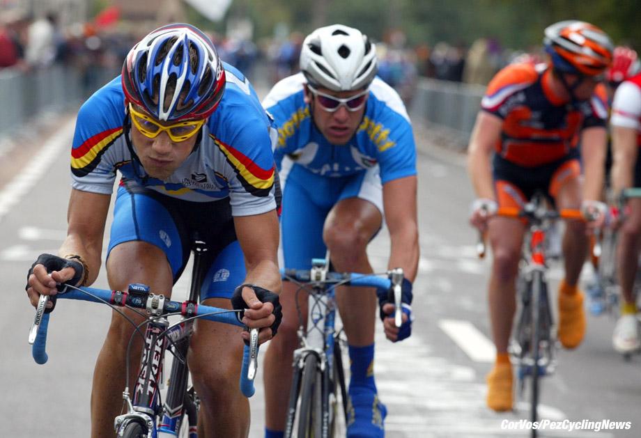 Zolder: WK wielrennen op de weg voor Elite,13-10-2002 foto Cor Vos ©2002 Tom Boonen