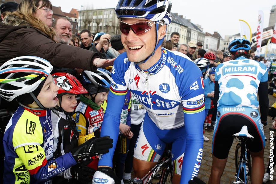Gent - Belgie - wielrennen - cycling - radsport - cyclisme - Omloop Het Nieuwsblad 2009 - Tom Boonen (Belgie / Team Quick Step - Quickstep) - foto Wessel van keuk/Cor Vos ©2009