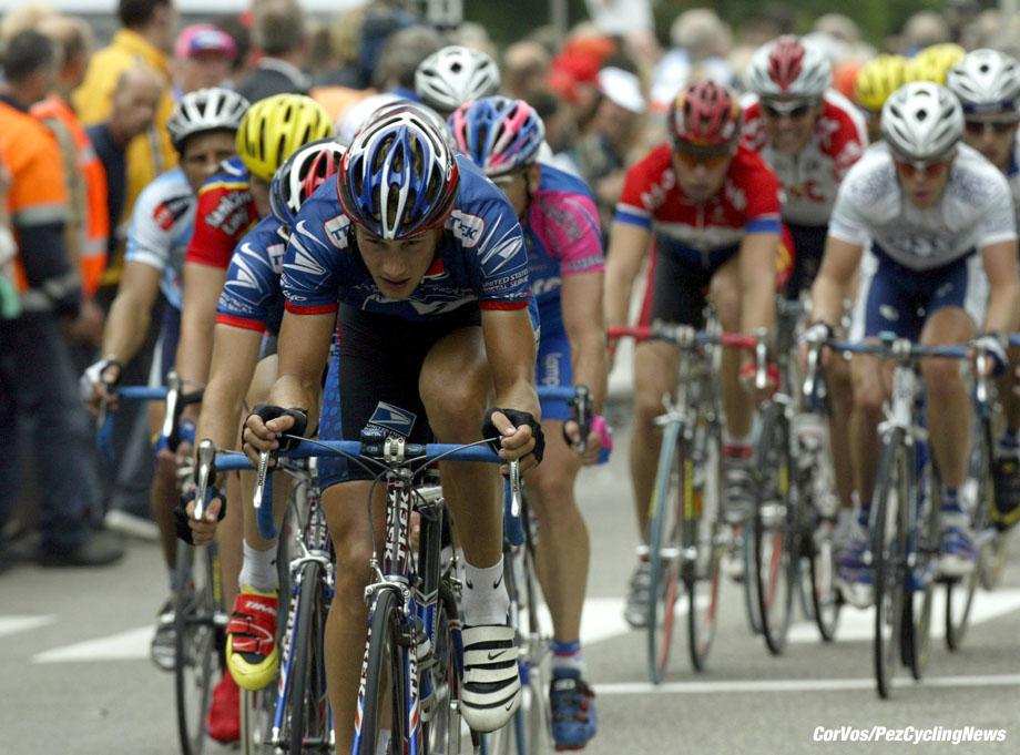 Sittard, 5e etappe ENECO Tour, foto Cor Vos ©2002 Tom Boonen