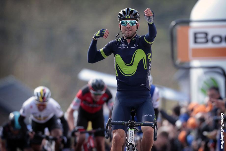 Huy - Belgium - wielrennen - cycling - cyclisme - radsport - VALVERDE BELMONTE Alejandro (ESP) Rider of Movistar  pictured during the Fleche Wallone 2017 - foto Dion Kerckhoffs/Cor Vos © 2017