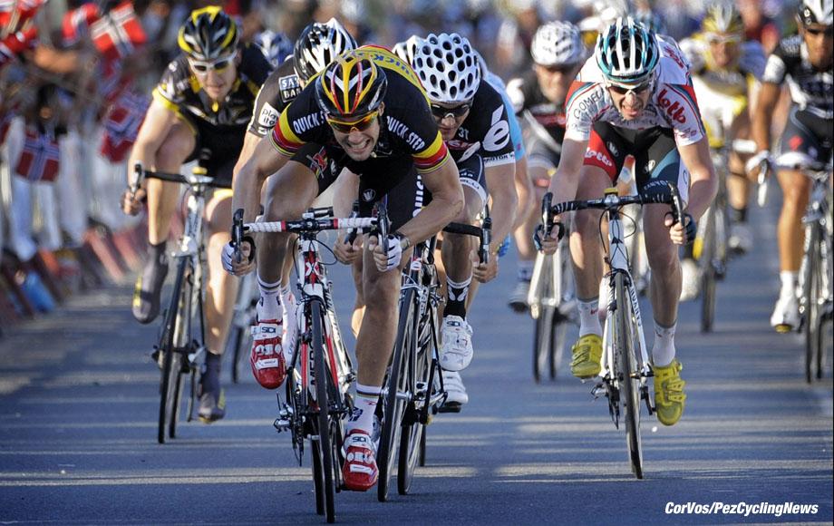 Doha - Qatar - wielrennen - cycling - radsport - cyclisme - Ronde van Kater - Tour de Qatar - 3e etappe - Tom Boonen (Quick Step - Quickstep) - foto Cor Vos ©2010