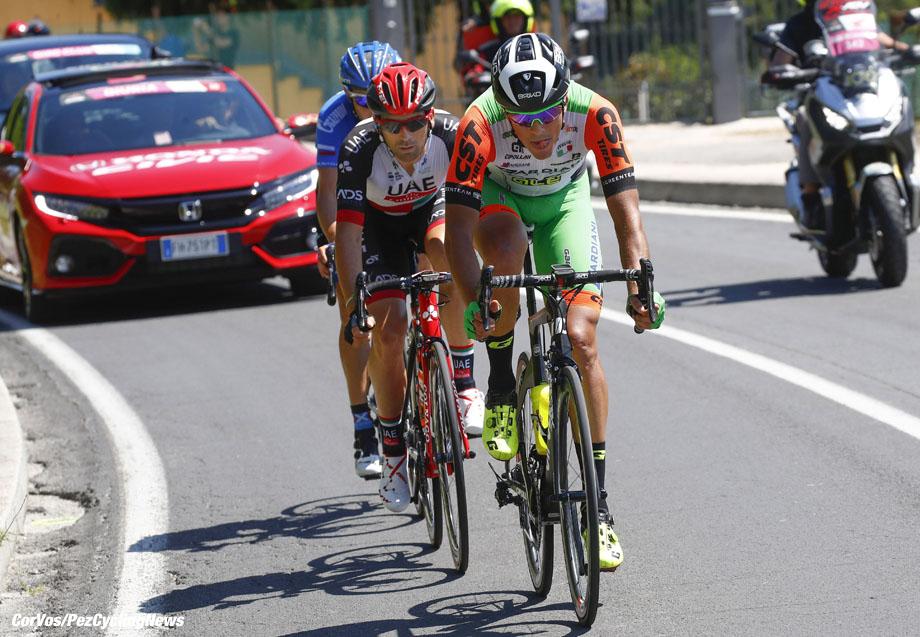 Reggio Emilia - Italia - wielrennen - cycling - radsport - cyclisme - Mirco Maestri (ITA - Bardiani - CSF) - Marco MARCATO (Italy / Team Abu Dhabi)  pictured during team stage 12 of the Giro D'Italia 2017  from Forlì to Reggio Emilia, 237.00 km -  photo LB/RB//Cor Vos © 2017