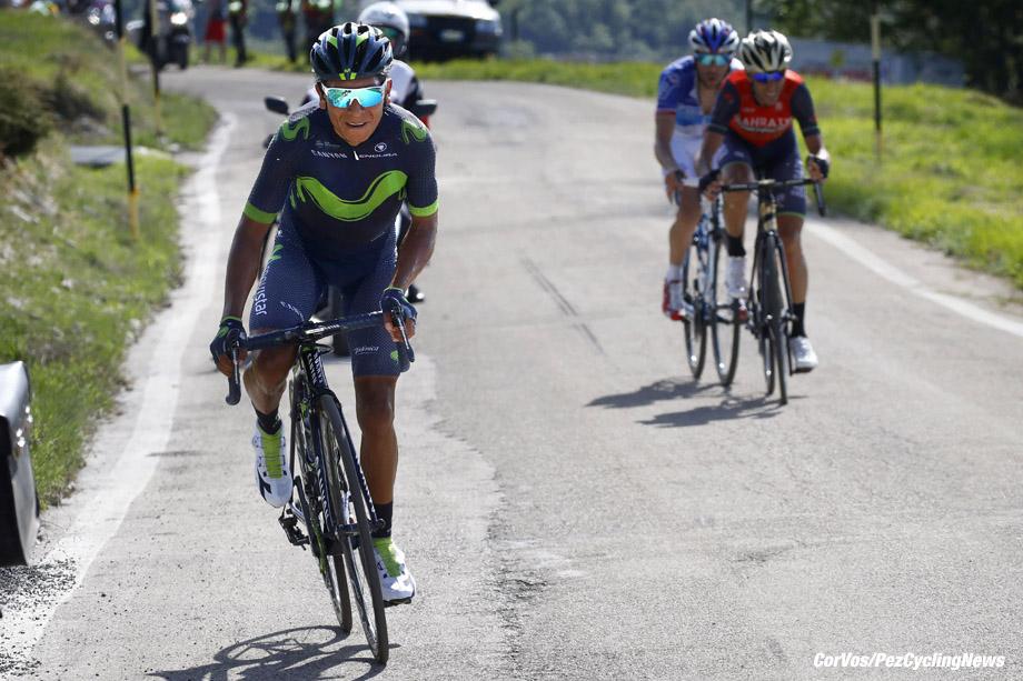 Blockhaus - Italia - wielrennen - cycling - radsport - cyclisme - Nairo Quintana (COL - Movistar) - Vincenzo Nibali (ITA - Bahrain - Merida) - Thibaut Pinot (FRA - FDJ) pictured during team stage 9 of the Giro D'Italia 2017  from Montenero di Bisaccia to Blockhaus, 139.00 km -  photo LB/RB/Cor Vos © 2017