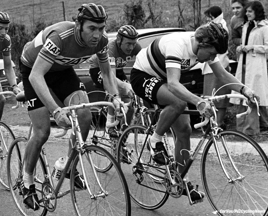 Eddy Merckx, Freddy Maertens, Joseph Bruyere en Bernard Hinault. foto Cor Vos©