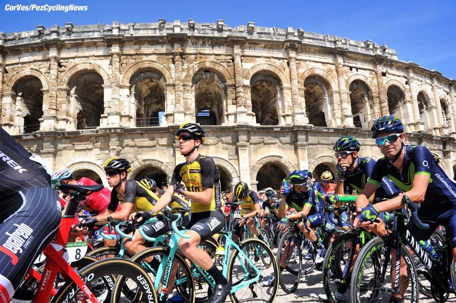 Gruissan - France - wielrennen - cycling - cyclisme - radsport -  Steven KRUIJSWIJK (Netherlands / Team Lotto NL - Jumbo) - Stef CLEMENT (Netherlands / Team Lotto NL - Jumbo) pictured during La Vuelta ciclista a Espana 2017 (2.UWT) stage 2 from Nimes - Gruissan (201 km) - photo Miwa iijima/Cor Vos © 2017