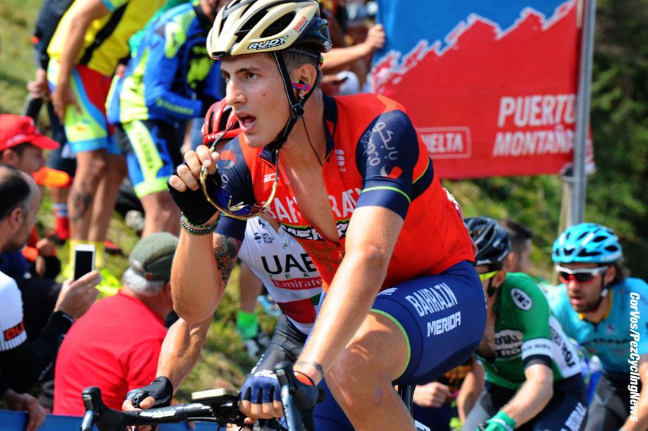 Gijon - Spain - wielrennen - cycling - cyclisme - radsport - Ivan GARCIA CORTINA (Spain / Team Bahrain - Merida) pictured during La Vuelta ciclista a Espana 2017 (2.UWT) stage 19 from Caso - Gijon (149,7 km) ITT - photo Miwa iijima/Cor Vos © 2017