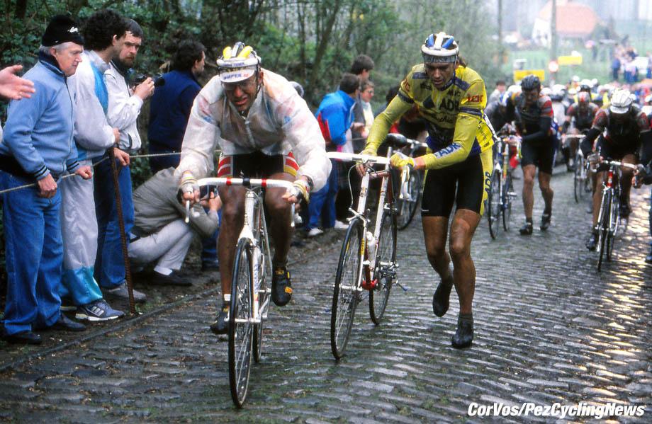Hoogvliet - wielrennen - cycling - radsport - cyclisme - Archief - Stock - archives divers season 1990 - Laurent Fignon and Fons de Wolf - photo Cor Vos © 2016