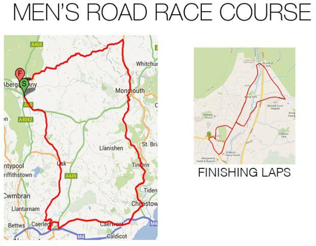 Men's Road Race Course
