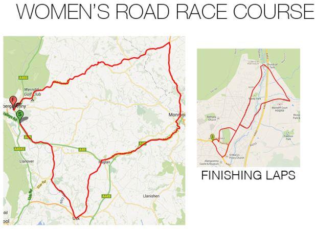 Women's Road Race Course