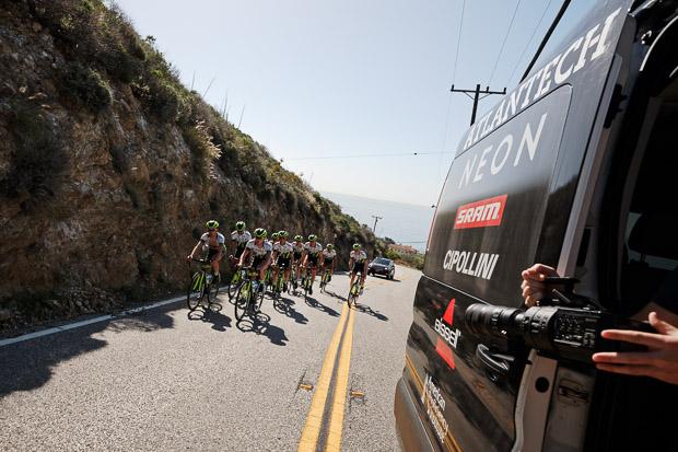 Axeon Cycling Team training in California. Photo: Davey Wilson -