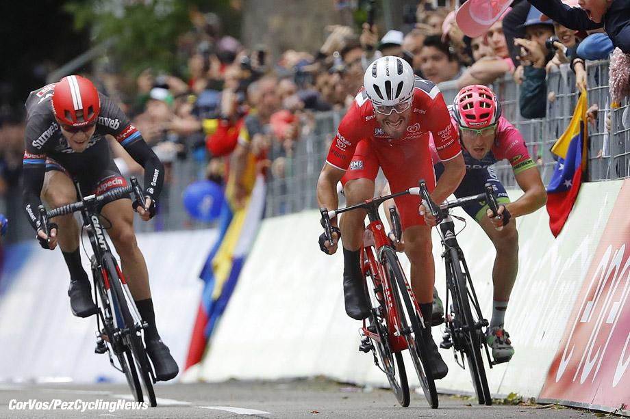 Torino - Italy - wielrennen - cycling - radsport - cyclisme -  Giacomo Nizzolo (Trek - Segafredo) - Sacha Modolo (Lampre - Merida) - Nikias Arndt (Giant - Alpecin)  pictured during  stage 21 of the 99th Giro d'Italia 2016 from Cuneo to Torino 163 km - foto DB/RB/Cor Vos © 2016