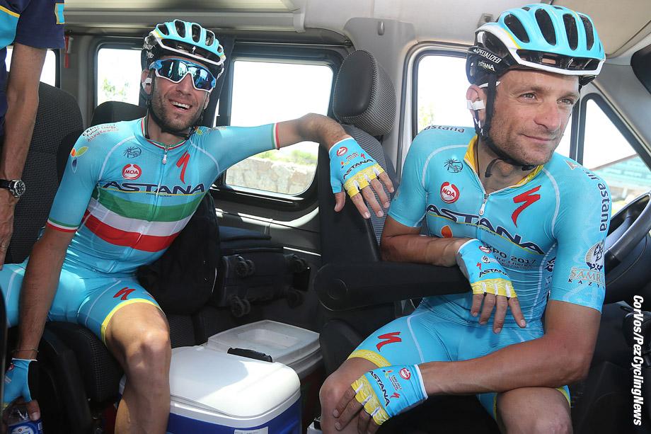 Cerro El Amago - Argentina - wielrennen - cycling - radsport - cyclisme - Vincenzo Nibali - Michele Scarponi (Astana)  pictured during Tour San Luis 2016 stage 4 -  From  Terrazas del Portezuelo to Cerro El Amago in Argentina - photo LB/RB/Cor Vos © 2016