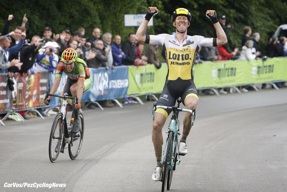 La Gileppe (Jalhay) - Belgium - wielrennen - cycling - radsport - cyclisme - Sep Vanmarcke (Belgium / Team Lotto Nl - Jumbo) - Wout van Aert pictured during stage 4 of the Ster ZLM Toer - GP Jan van Heeswijk 2016 in La Gileppe, Belgium - photo Dion Kerckhoffs/Cor Vos © 2016