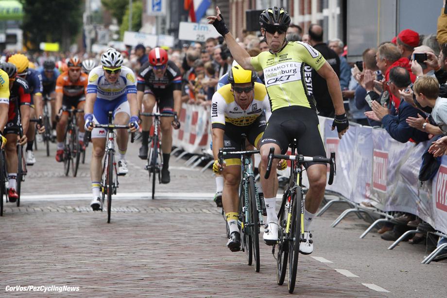Boxtel - Netherlands - wielrennen - cycling - radsport - cyclisme - Dylan Groenewegen (Netherlands / Team Lotto Nl - Jumbo) - Wim Stoeringa (Parkhotel Valkenburg) pictured during stage 5 of the Ster ZLM Toer - GP Jan van Heeswijk 2016 in Boxtel, Netherlands - photo Dion Kerckhoffs/Cor Vos © 2016