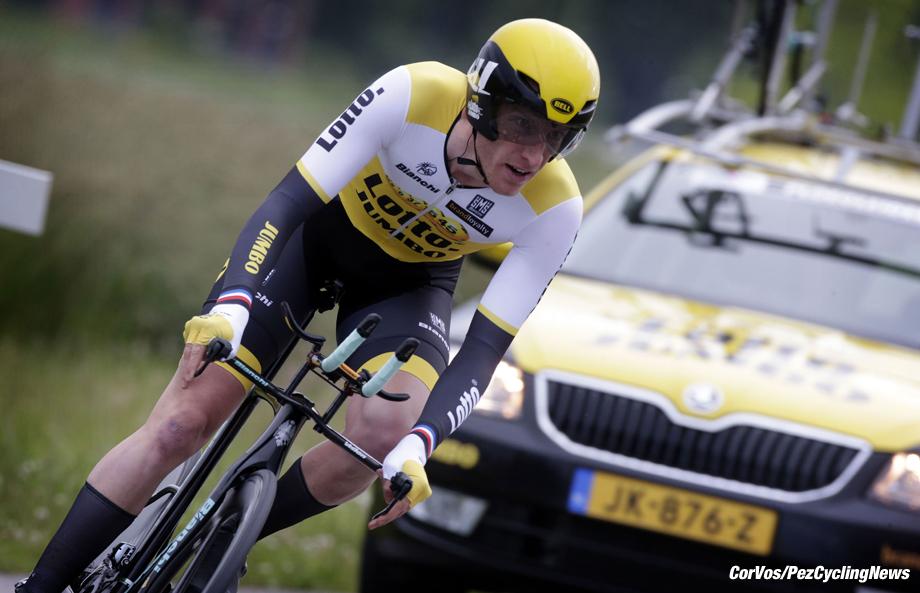 Goes - Netherlands - wielrennen - cycling - radsport - cyclisme -  Jos Van Emden (Netherlands / Team LottoNL - Jumbo)  pictured during the prologue (6,4 km) of the Ster ZLM Toer - GP Jan van Heeswijk 2016 in Goes, Netherlands - photo Carla Vos/Cor Vos © 2016