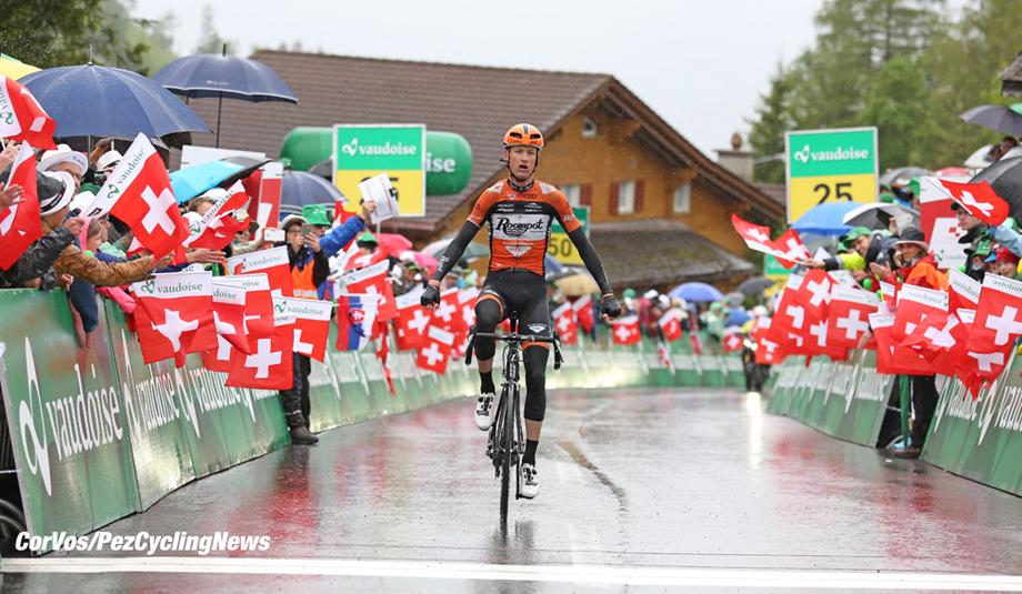 Amden - Switserland - wielrennen - cycling - radsport - cyclisme -  Pieter Weening (Netherlands / Roompot - Oranje Peloton) pictured during stage 6 of the Tour de Suisse 2016 from   Weesen to Amden (162,8 km) - photo Rene Vigneron/Cor Vos © 2016