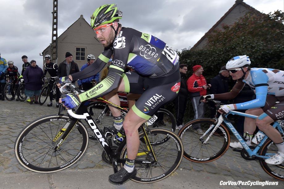 Waregem - Belgium - wielrennen - cycling - radsport - cyclisme - Mclay Daniel (Great Britain / Fortuneo - Vital Concept) pictured during 71e Dwars door Vlaanderen Men Elite - photo PdV/PN/Cor Vos © 2016