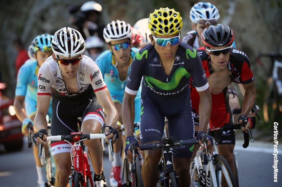 Finhaut-Emosson - Suisse  - wielrennen - cycling - radsport - cyclisme -  Nairo Quintana (COL-Movistar) - Bauke Mollema (NED-Trek Segafredo) - Fabio Aru (ITA-Astana) 0 Richie Porte (AUS-BMC Racing Team)  pictured during stage 17 of the 2016 Tour de France from   Bern to Finhaut-Emosson, 184.00 km - photo poolphoto/Cor Vos © 2016