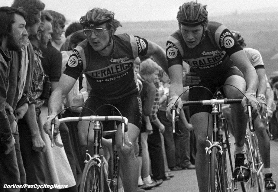 Heerlen-Limburg-wielrennen-cycling-cyclisme- archief-stock-archive- Amstel Gold Race diverse jaren- Jan Raas en Bert Oosterbosch - foto Cor Vos ©2005