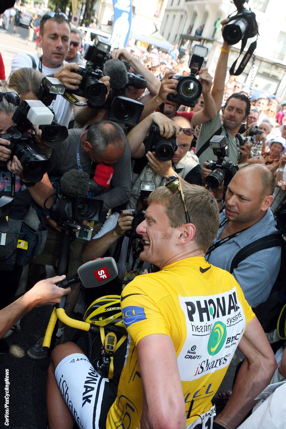 Carcassone- Frankrijk - wielrennen - cycling - cyclisme - Tour de France - 12e etappe Luchon-Carcassone - Floyd Landis (Phonak) - foto Wessel van Keuk/Cor Vos ©2006