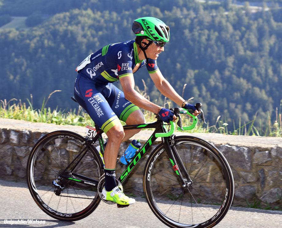 Esteban Chaves on stage 14 of the 2016 Vuelta a España