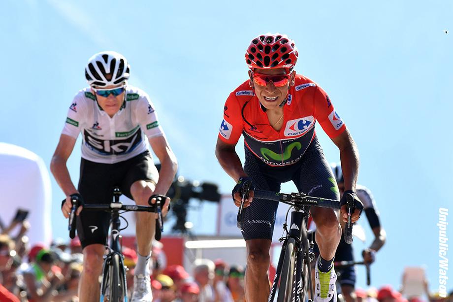 Nairo Quintana on stage 14 of the 2016 Vuelta a EspaÒa