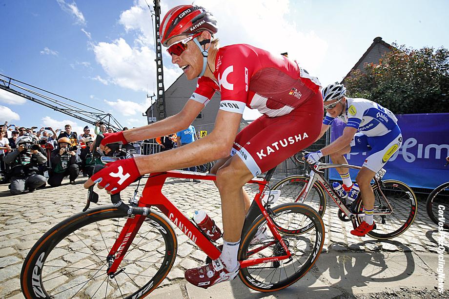 Oudenaarde - Belgium - wielrennen - cycling - radsport - cyclisme - Politt Nils (Germany / Team Katusha)  pictured during 100th Ronde van Vlaanderen - Tour de Flanders - from Brugge to Oudenaarde - photo LB/RB/Cor Vos © 2016