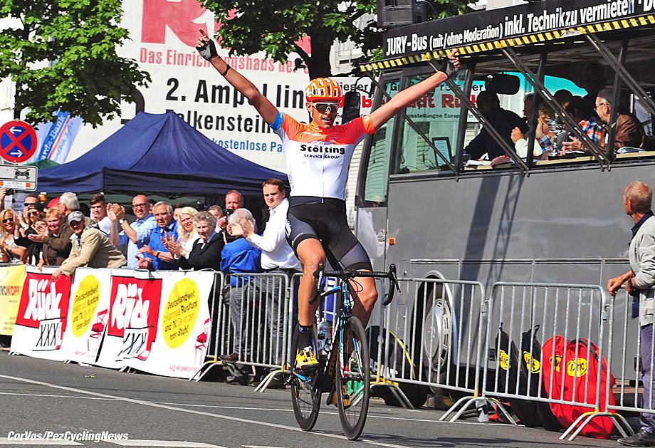 Oberhausen - Germany  - wielrennen - cycling - radsport - cyclisme -  Nils Politt (Team Soelting)  pictured during Grosser Rueck am Rathaus Preis in Oberhausen - Germany  - photo HR/Cor Vos © 2015