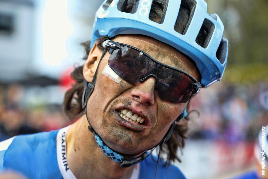 Roubaix - France - wielrennen - cycling - radsport - cyclisme -  Johan Vansummeren (Garmin - Sharp)  pictured during Paris - Roubaix 2014 - photo  IB/RB/Cor Vos © 2014