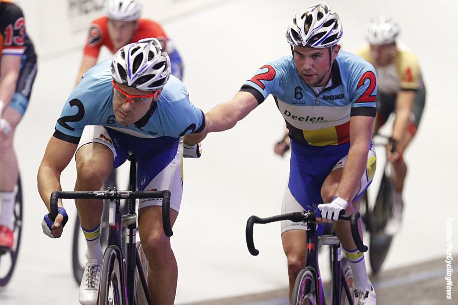 Amsterdam - Netherlands - wielrennen - cycling - radsport - cyclisme -  Kenny De Ketele (BEL) - Moreno De Pauw (BEL) pictured during 6 Six Day Amsterdam day 6 - photo Davy Rietbergen/Cor Vos © 2016