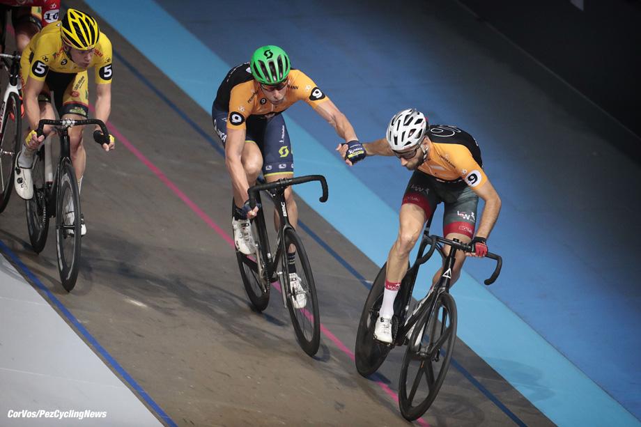 Rotterdam - Netherlands - wielrennen - cycling - cyclisme - radsport - baan - track - piste - Roger Kluge - Christian Grasmann  -  Zesdaagse 2017 in Ahoy - Rotterdam - foto Davy Rietbergen/Cor Vos ©2017