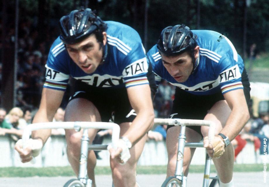Archief - wielrennen - cycling - radsport - cyclisme - archief - stockfoto - archive - Patrick Sercu - Eddy Merckx - foto Cor Vos ©2008