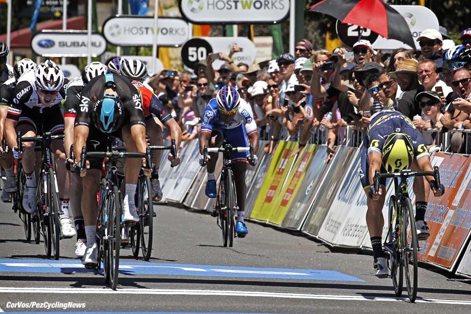 Lyndoch - Australia - wielrennen - cycling - radsport - cyclisme - Danny VAN POPPEL (Netherlands / Team Sky) - Caleb EWAN (Australia / Team Orica Scott) pictured during the Santos Tour Down Under 2017 - Hostworks Stage 1 - in Lyndoch, Australia on jan 17 - photo Dion Kerckhoffs/Cor Vos © 2017