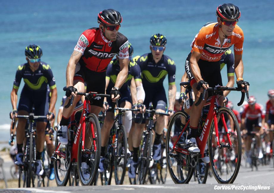 Willunga Hill - Australia - wielrennen - cycling - radsport - cyclisme - Richie PORTE (Australia / BMC Racing Team) pictured during  the Santos Tour Down Under 2017 - BikeExchange Stage 5 - in Willunga Hill, Australia on jan 21 - photo Dion Kerckhoffs/Cor Vos © 2017