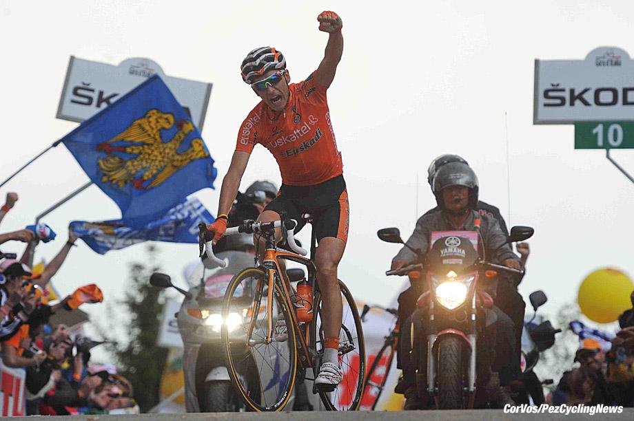 Monte Zoncolan - Italie - wielrennen - cycling - radsport - cyclisme - Giro D'Italia 2011 - 14e etappe Lienz - Monte Zoncolan - Igor Anton Hernandez (Team Euskaltel - Euskadi) - foto Cor Vos ©2011